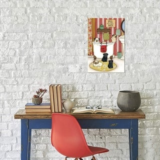 "iCanvas ""Pug Popcorn Bath"" by Jamie Morath Gallery-Wrapped Canvas Print"