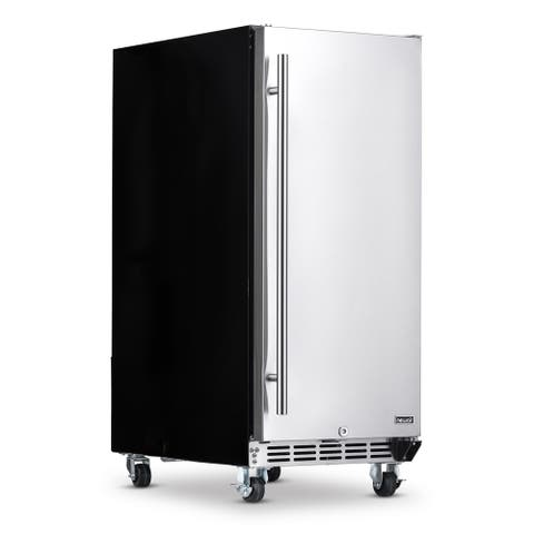 NewAir Premium Built-in Outdoor Refrigerator 90 Can Storage Beverage Cooler Center Fridge for Patio - Stainless Steel