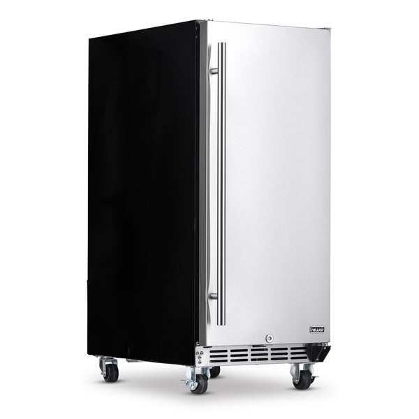 NewAir Premium Built-in Outdoor Refrigerator 90 Can Storage Beverage Cooler Center Fridge for Patio - Stainless Steel. Opens flyout.