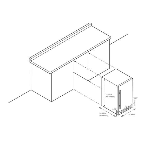 NewAir Premium Built-in Outdoor Refrigerator 90 Can Storage Beverage Cooler Center Fridge for Patio - Stainless Steel