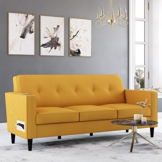Link to Copper Grove Larkin Sofa with USB and Power Ports Similar Items in Sofas & Couches