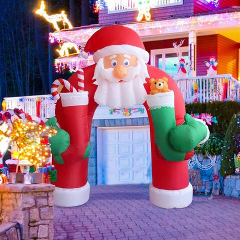 Kinbor 11-foot Huge Inflatable Santa Christmas Outdoor Archway