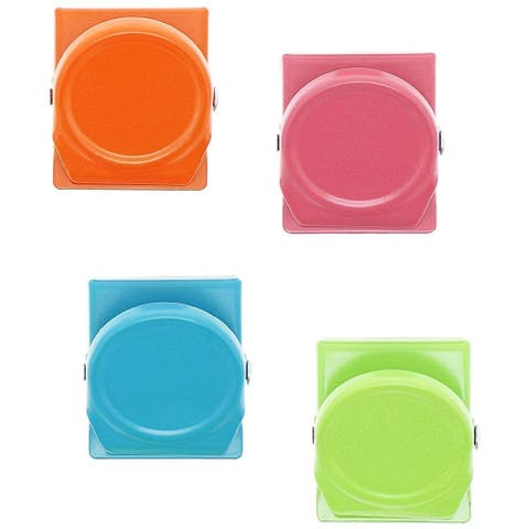 24 Count Metal Magnetic Clips in 4 Colors Ideal for Hanging Notes Postcards