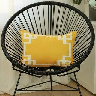 Geometric Greek Key Design Printed Decorative Throw Pillow Cover