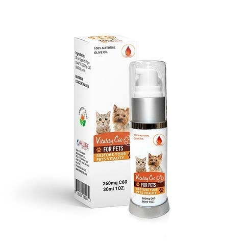 Vitality C60 for Pets 260 mg Highest concentration of C60 on the market for pets