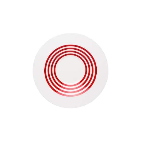 Freshness Lines Red Rimmed Bowls Set of 4