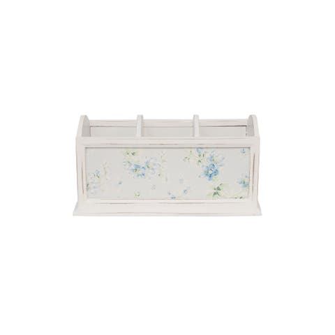 Shabby Chic by DesignStyles 3 Compartment Wooden Pencil Holder