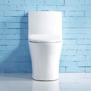 Keres Vitreous China Elongated Dual-Flush One-Piece Toilet - N/A
