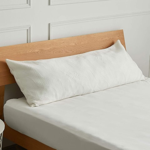 Cheer Collection Gel Infused 20 x 54 Body Pillow with Bamboo Cover - N/A