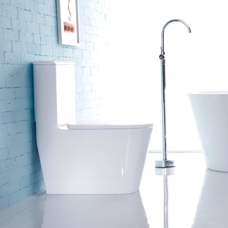 Theia Viitreous China Dual-Flush Elongated One-Piece Toilet