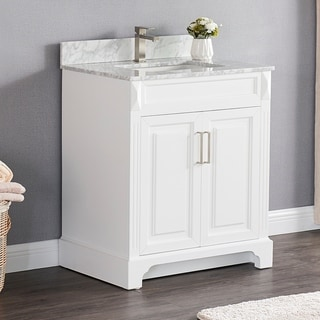 Copper Grove Dian 30-inch Single Sink Bathroom Vanity Set with Marble Top