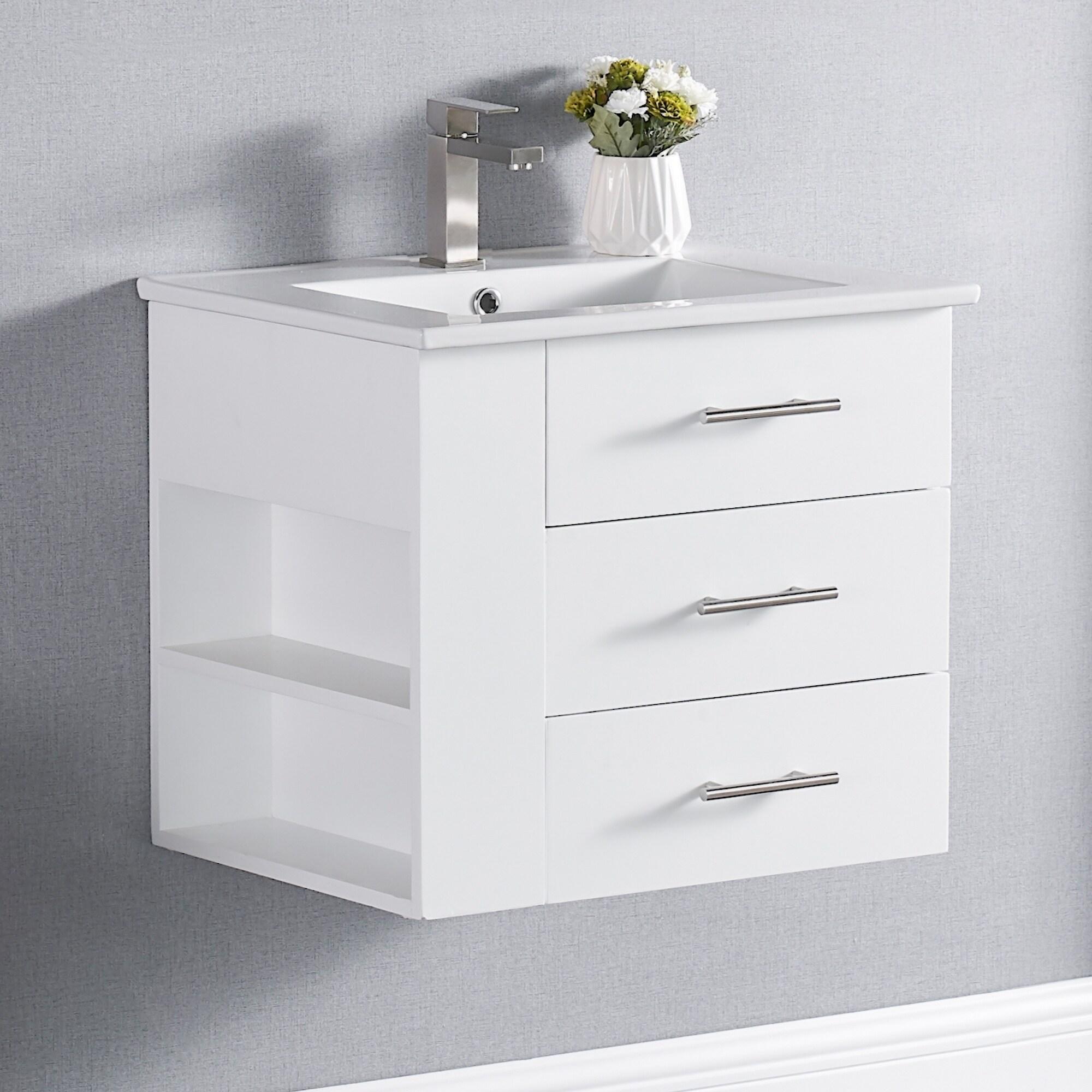 24 Inch Single Sink Wall Mount Bathroom