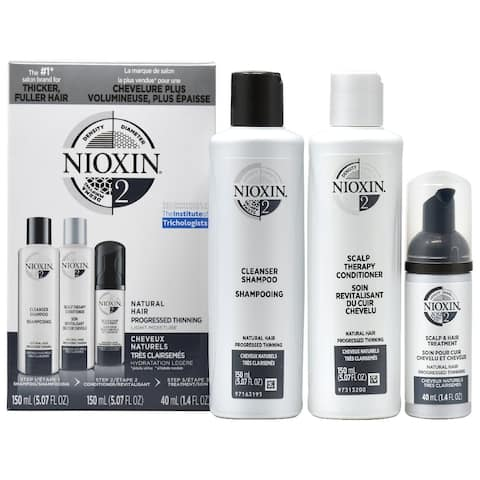 """Nioxin System No.2 """"Trial"""" Kit For natural hair with progressed thinning"""