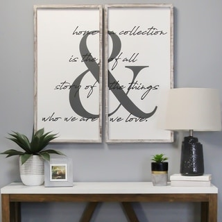 The Gray Barn 2-piece 'Home is the Story' Wall Art