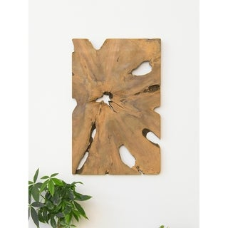 Aurora Home Sliced Teak Root Wall Art