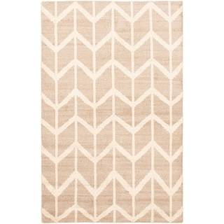 Hand-knotted Tangier Cream Wool Rug - ECARPETGALLERY - 5'1 x 8'2