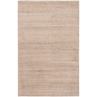 Hand-knotted Tangier Tan Wool Rug - ECARPETGALLERY - 5'1 x 7'11