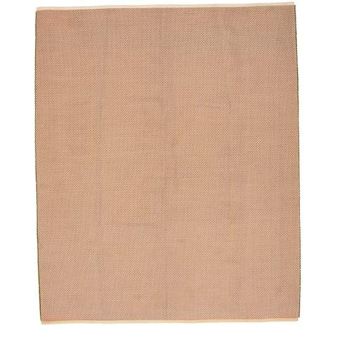 Handmade Honeycomb III Copper Cotton, Polyester Rug