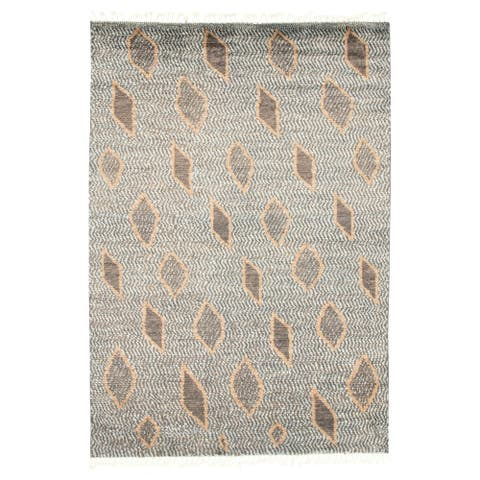 Hand-knotted Marrakech Grey, Blue Wool Rug