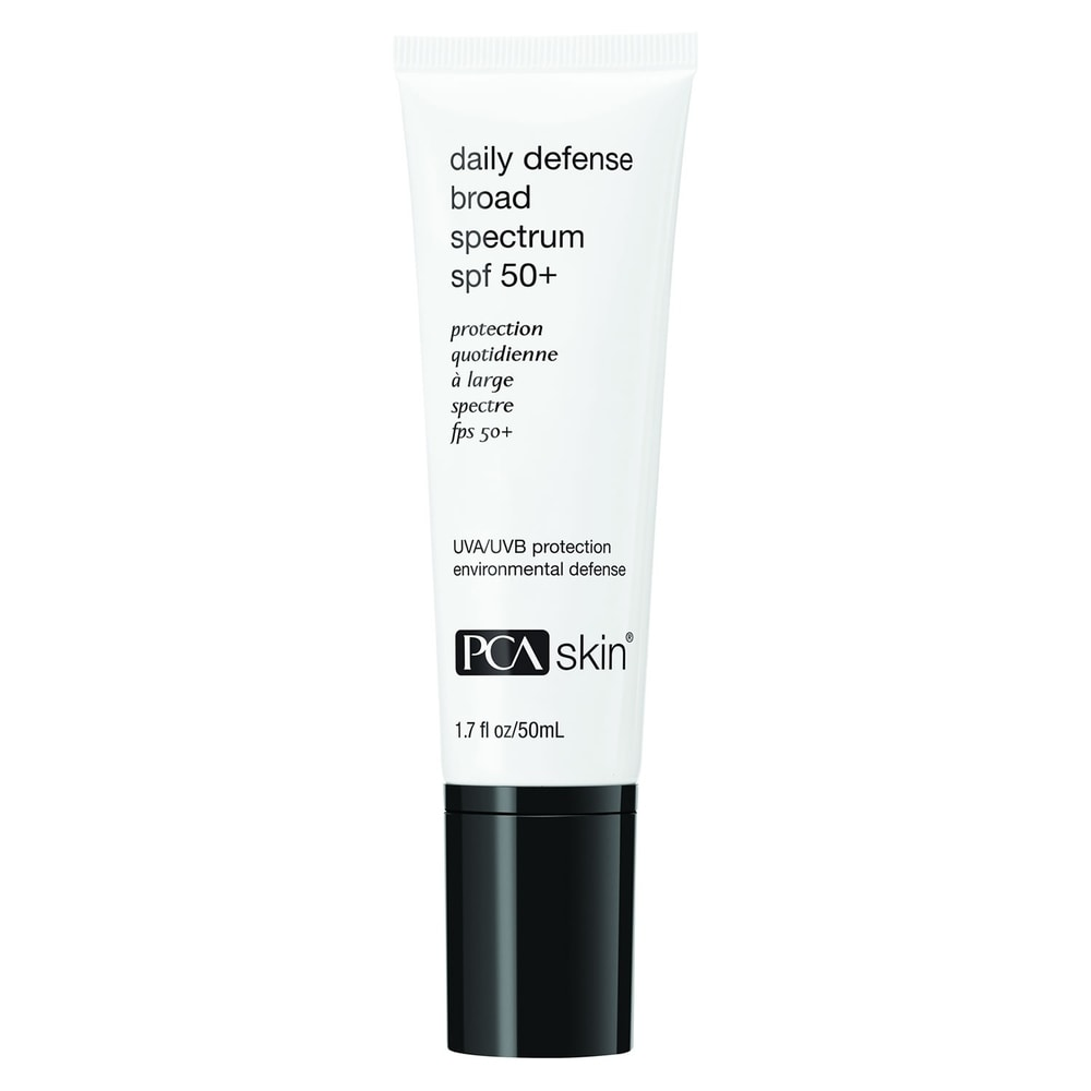 PCA Skin Daily Defense Broad Spectrum SPF 50+ 1.7 oz (White/Black - Facial Sunscreen)