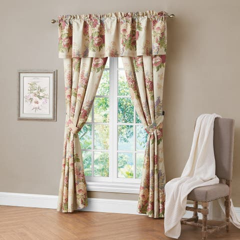 Porch & Den Savaria Floral Bouquet Valance