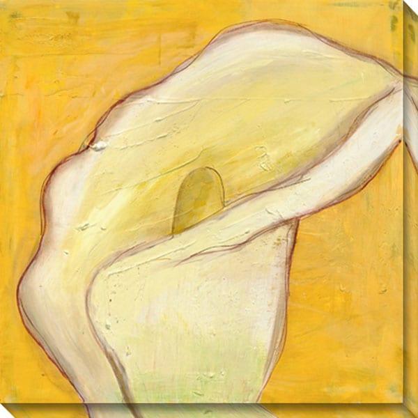 Gallery Direct Laura Gunn 'Calla Lily on Gold I' Canvas Art