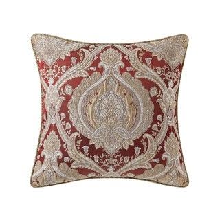 Norwich Burgundy Damask Throw Pillow