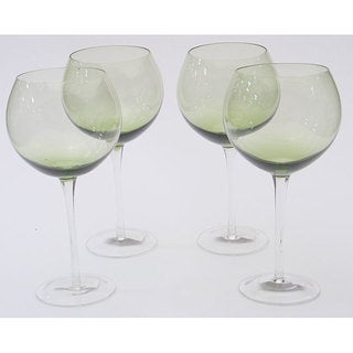 Certified International Olive Green 28-oz Red Wine Glasses (Set of 8) (As Is Item)