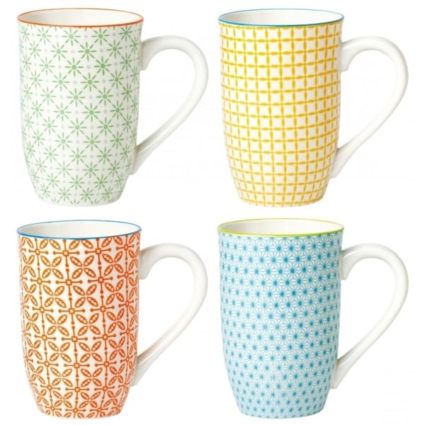 4 Piece Tall Coffee Mug Set - Color. Opens flyout.