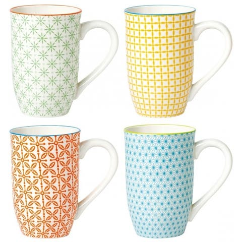 4 Piece Tall Coffee Mug Set - Color