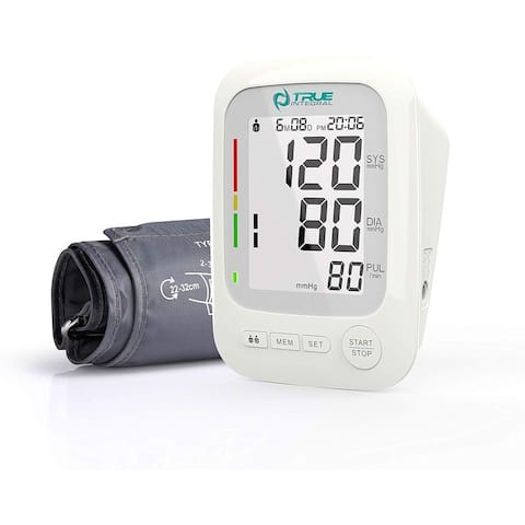True INTERGRAL Arm Blood Pressure Monitor with Large Display, Upper Arm Cuf, Heart Rate Pulse - FDA Approved