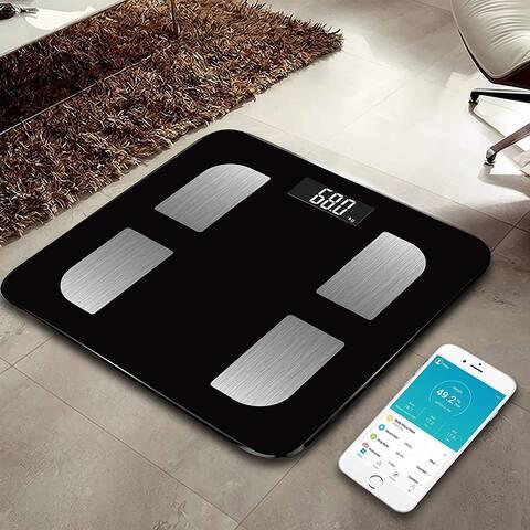 True Integral Bluetooth Body Fat Smart Scale with Smartphone APP, BMI Digital Scale, Bathroom Wireless Weight Scale, in Black