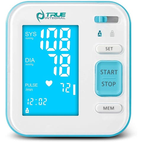 True Integral Arm Blood Pressure Monitor with Large Display, Voice Notification, Upper Arm Cuf - FDA Approved