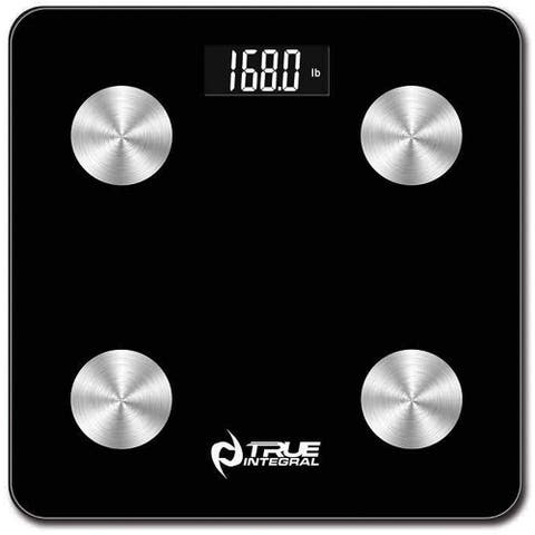True Integral Bluetooth Body Fat Smart Scale with Smartphone APP, BMI Digital Scale, Bathroom Wireless Weight Scale, in Black