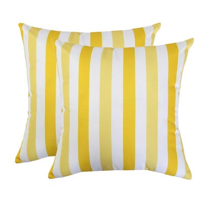 Striped Outdoor Throw Pillow by Havenside Home