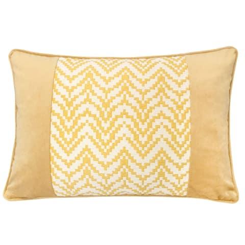 """Hannah Chevron Bow Throw Pillow, 14""""x20"""""""