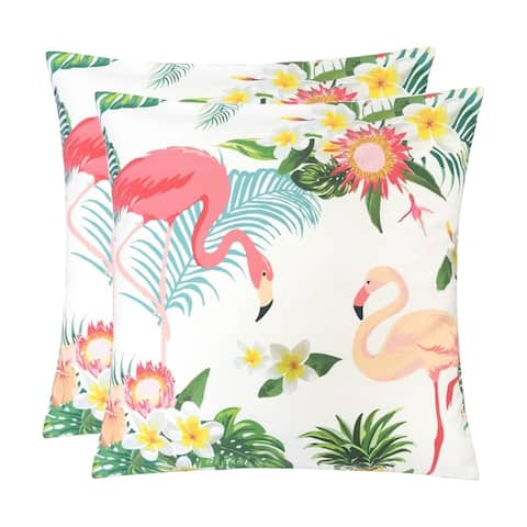 Outdoor Pillow, Flamingo - Set of 2