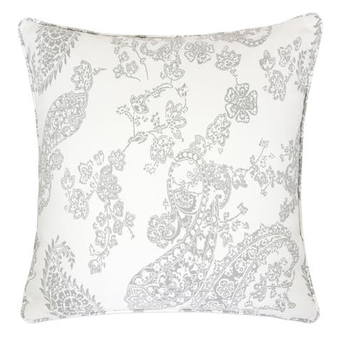 "Ella Jacquard 20"" Square Decorative Throw Pillow"