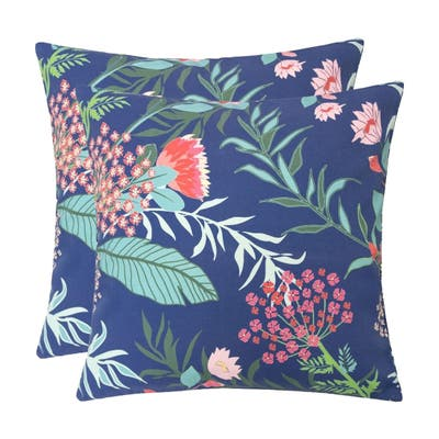 Outdoor Pillow, Tropical Leaf 20x20