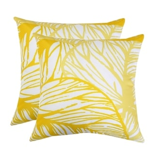 Outdoor Classic Leaves Throw Pillow by Havenside Home