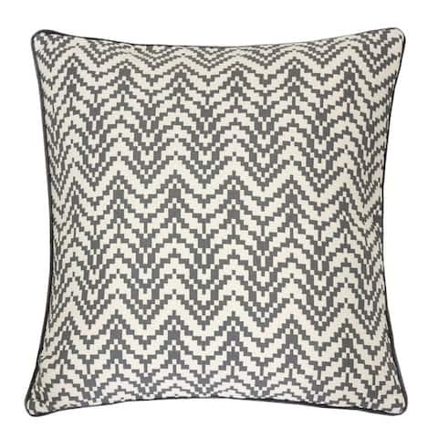 "Zoe Chevron Bow 20"" Square Decorative Throw Pillow"
