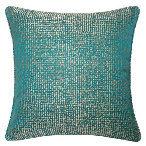 Chloe Jacquard Plaid Throw Pillow