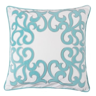 Curl Applique Embroidery Throw Pillow