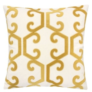"""Link to Carly Applique Embroidery 20"""" Square Decorative Throw Pillow Similar Items in Decorative Accessories"""