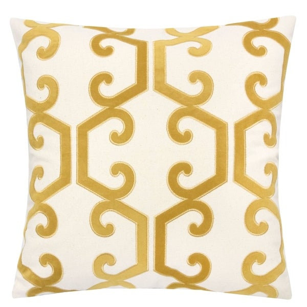 """Carly Applique Embroidery 20"""" Square Decorative Throw Pillow. Opens flyout."""