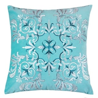 Floral Elegant 20-inch Square Decorative Throw Pillow by Havenside Home