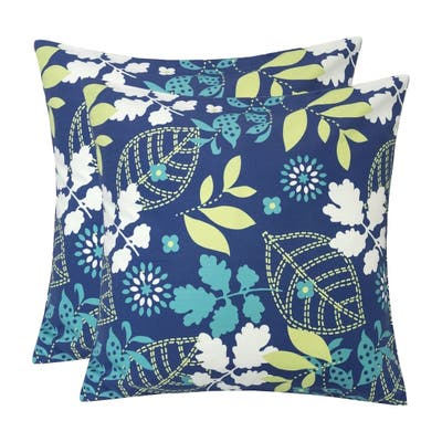Outdoor Pillow, Tropical Leaf