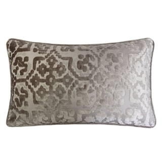 "Iris Modern Cut Velvet 12""X20"" Rectangle Decorative Throw Pillow"