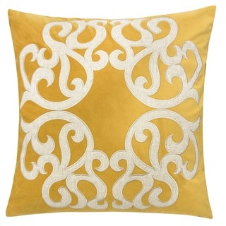 """Link to Shierly Applique Embroidery Velvet 20"""" Square Decorative Throw Pillow Similar Items in Decorative Accessories"""