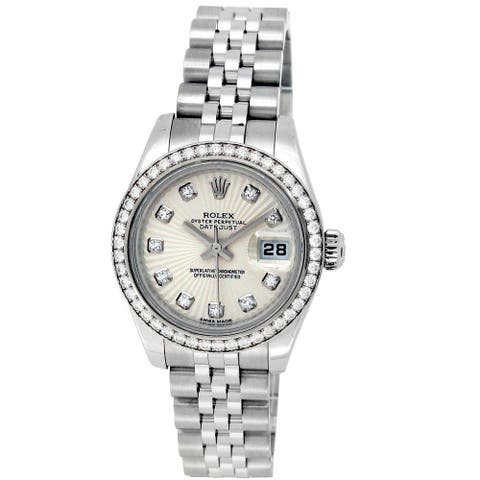 Pre-owned 26mm Rolex Stainless Steel Oyster Perpetual Datejust Watch - N/A
